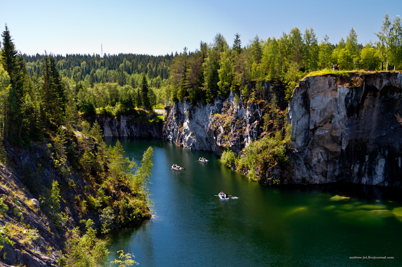 каменный каньон Рускеала